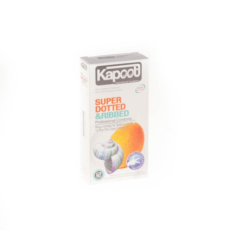 کاندوم کاپوت مدل co1503 Super dotted and ribbed