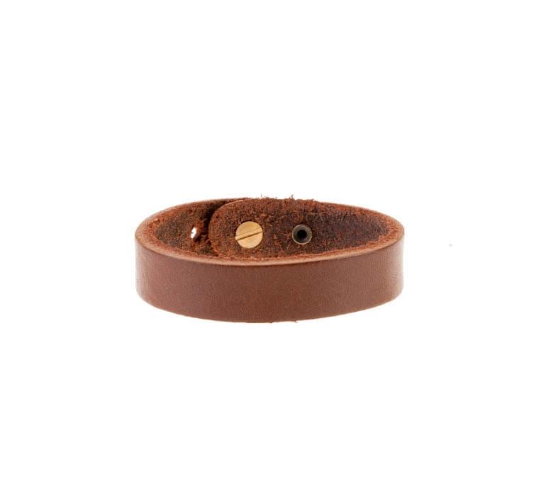 دستبند چرمی قهوه ای مردانه LM1026