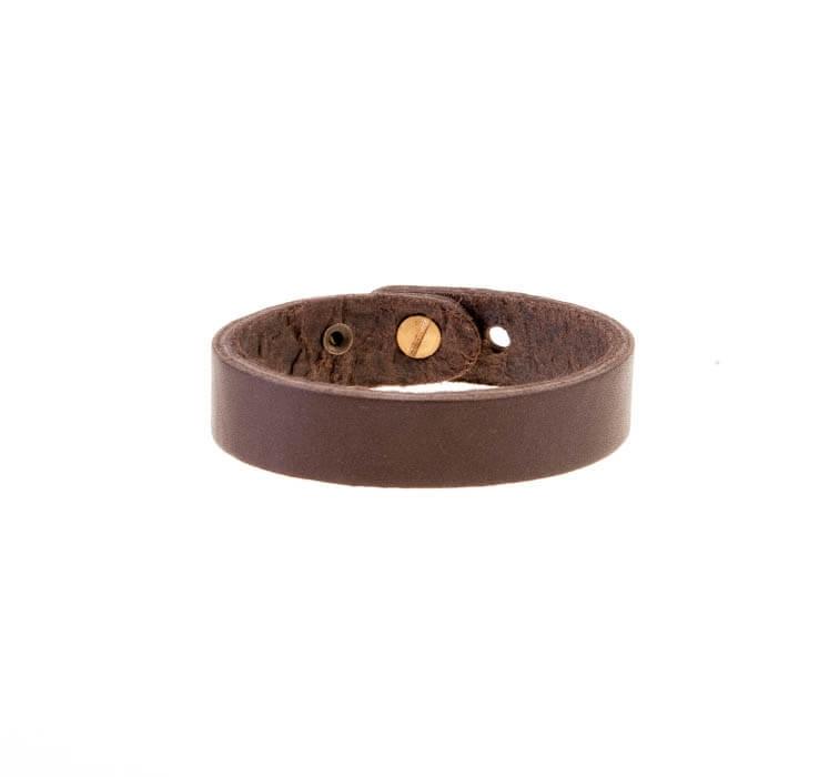 دستبند چرمی ساده مردانه LM1028
