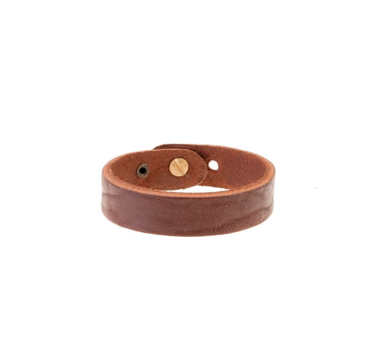 دستبند چرم قهوه ای مردانه LM1033