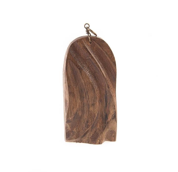 آویز گردنبند چوبی دست ساز کد WN1003