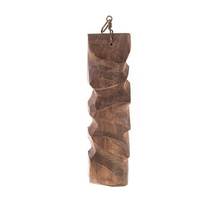 آویز گردنبند چوبی دست ساز کد WN1002