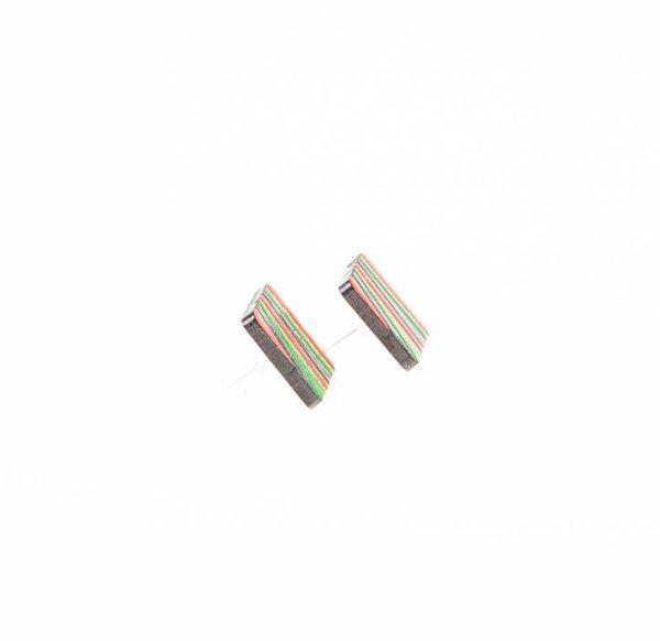 گوشواره میخی چوبی دست ساز WIR1002
