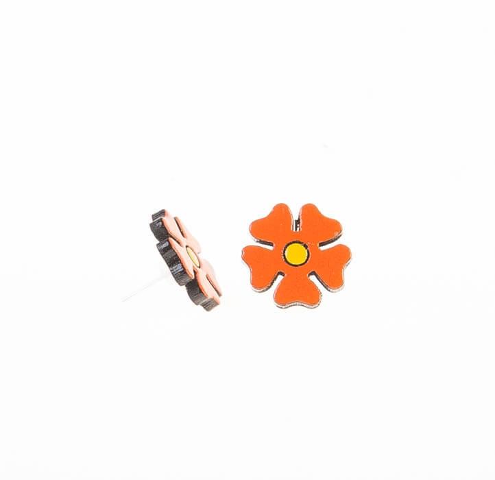 گوشواره میخی چوبی دست ساز WIR1016