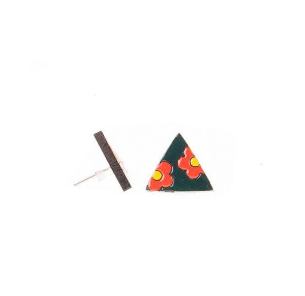 گوشواره میخی گوشواره چوبی دست ساز زیورآلات خرید گوشواره