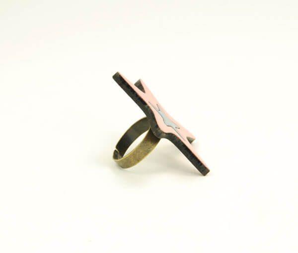 انگشتر چوبی کد WRI1024