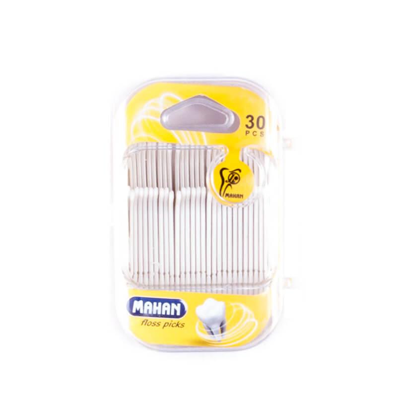 نخ دندان ماهان مدل floss picks بسته 30 عددی کد fp1200