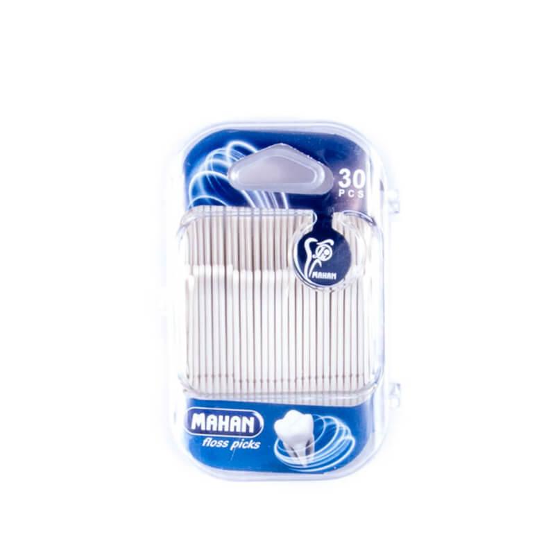 نخ دندان ماهان مدل floss picks بسته 30 عددی کد fp1201