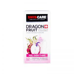 کاندوم سوئیس کر مدل DRAGON FRUIT بسته 12 عددی