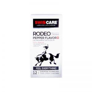 کاندوم سوئیس کر مدل RODEO PEPPER FLAVOR بسته 12 عددی
