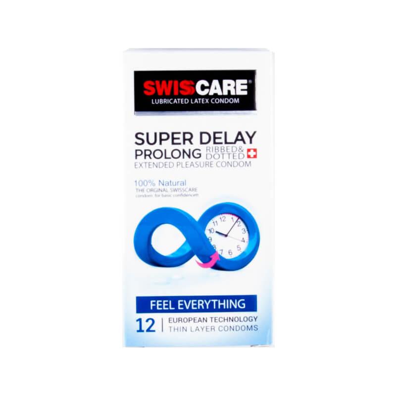 کاندوم سوئیس کر مدل SUPER DELAY PROLONG بسته 12 عددی