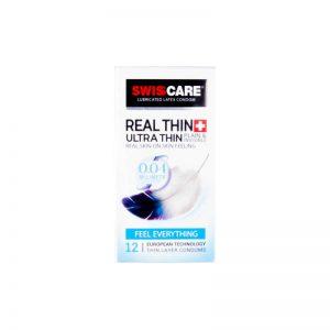 کاندوم سوئیس کر مدل Real Thin بسته 12 عددی