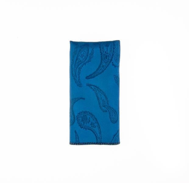 دستمال جیب طرح بته جقه سورمه ای PSH1087