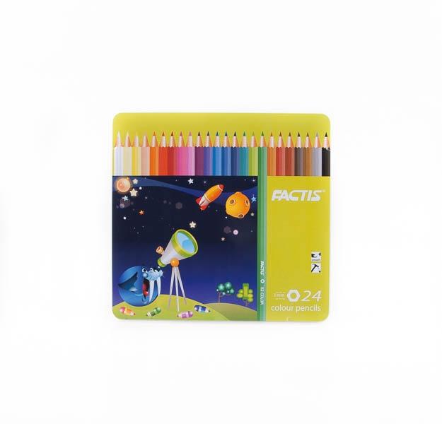 مداد رنگی 24 رنگ factic کد stcp1006