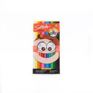 مداد رنگی 12 رنگ scriva کد stcp1008
