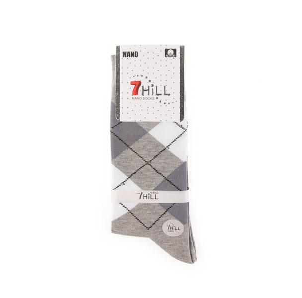 جوراب مردانه طرح دار 7HILL کد SMS1042