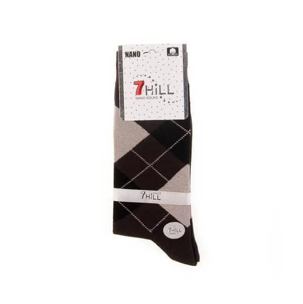 جوراب مردانه طرح دار 7HILL کد SMS1043