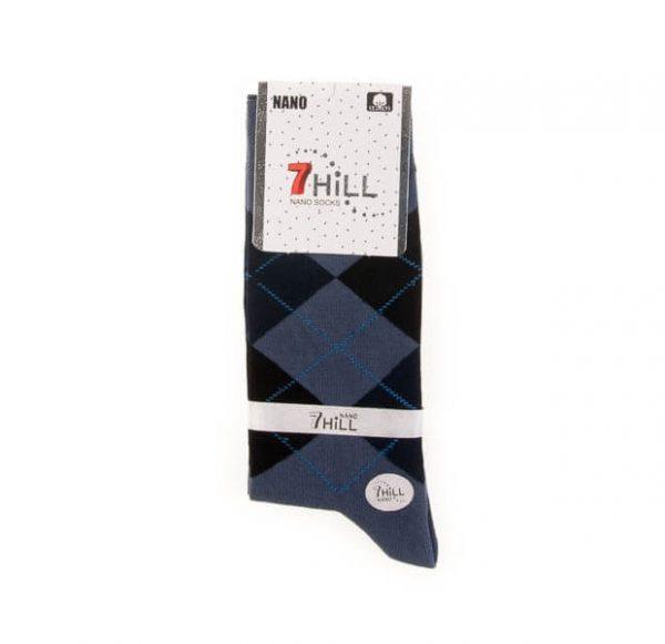 جوراب مردانه طرح دار 7HILL کد SMS1044