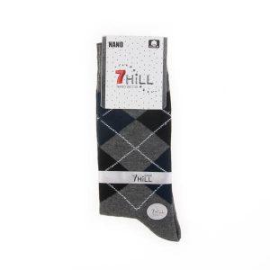 جوراب مردانه طرح دار 7HILL کد SMS1048