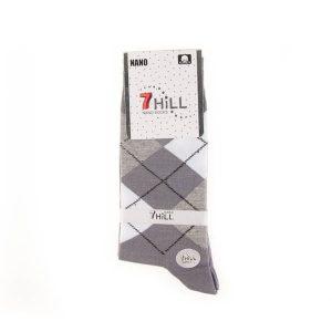 جوراب مردانه طرح دار 7HILL کد SMS1049