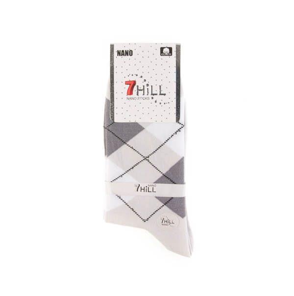 جوراب مردانه طرح دار 7HILL کد SMS1052