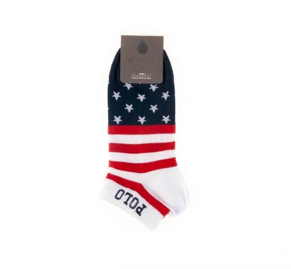 جوراب مردانه طرح دار کد SMS1019