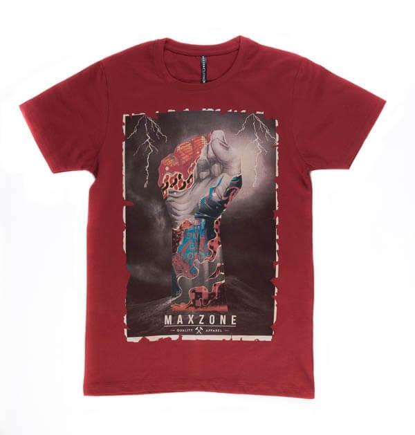 تی شرت مردانه طرح دار مکس زون maxzone کد TS1056