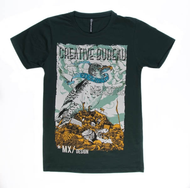 تی شرت مردانه طرح دار مکس زون maxzone کد TS1057