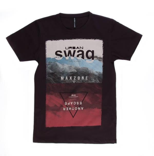 تی شرت مردانه طرح دار مکس زون maxzone کد TS1059