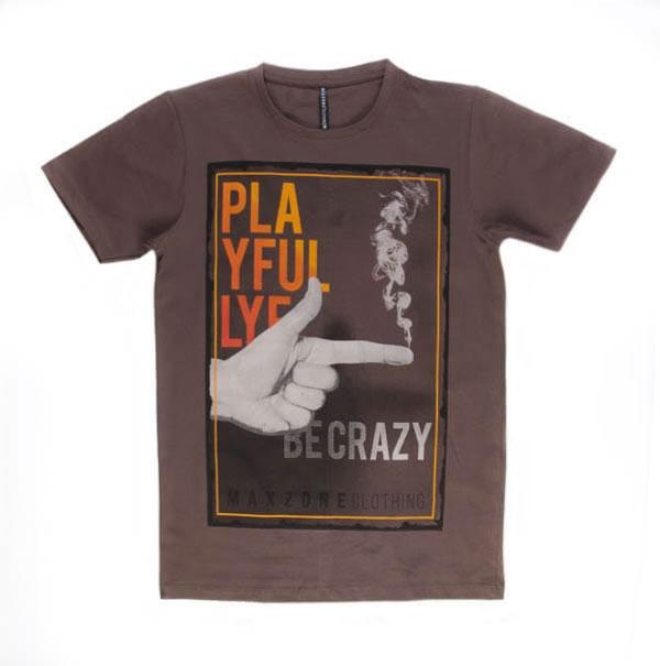 تی شرت مردانه طرح دار مکس زون maxzone کد TS1061