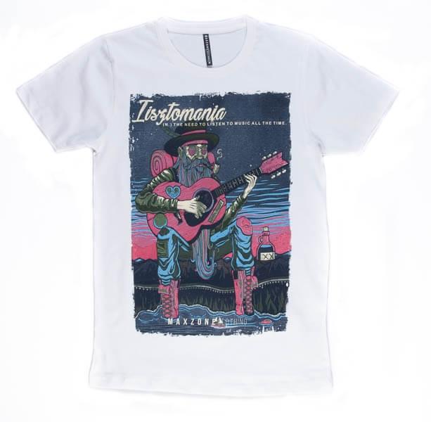 تی شرت مردانه طرح دار مکس زون maxzone کد TS1069