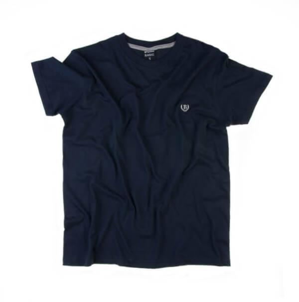 تی شرت مردانه ساده برند BASIC کد TS1046