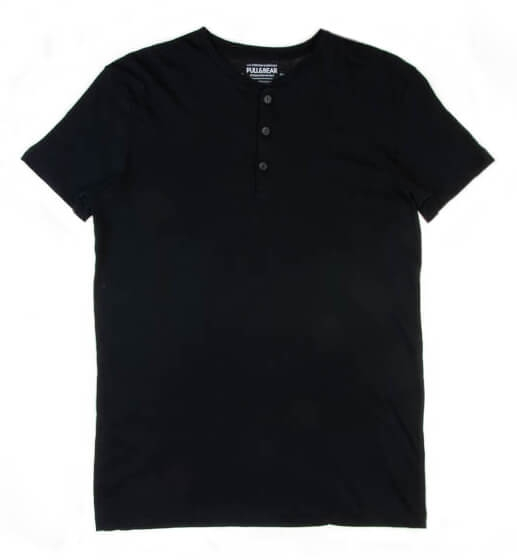 تی شرت مردانه ساده Pull&Bear کد TS1075