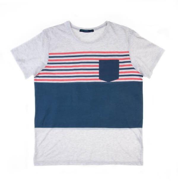تی شرت مردانه راه راه پلازا Plaza کد TS1055