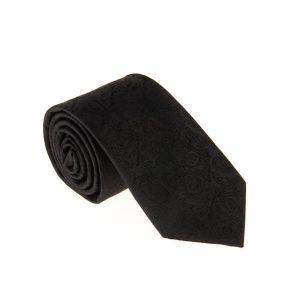 کراوات ابریشمی طرح دار مردانه Rossi بته جقه مشکی T1135