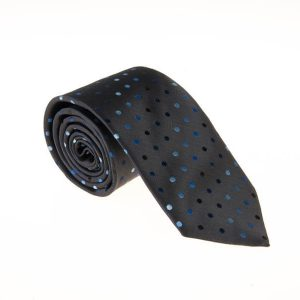 کراوات ابریشمی طرح دار مردانه Rossi مشکی T1053