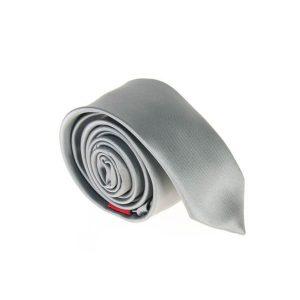 کراوات ساده مردانه طوسی کد T1056
