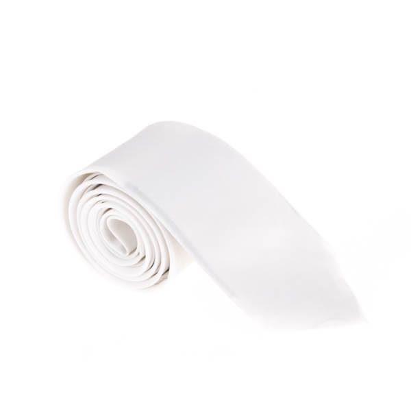 کراوات ساده مردانه سفید کد T1060