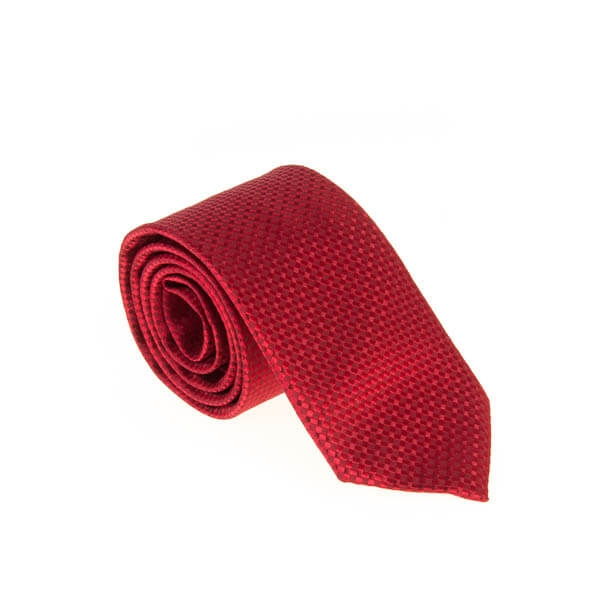 کراوات ابریشمی طرح دار مردانه Rossi قرمز T1061