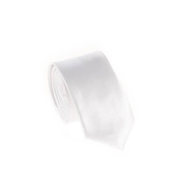 کراوات ساده مردانه سفید کد T1062