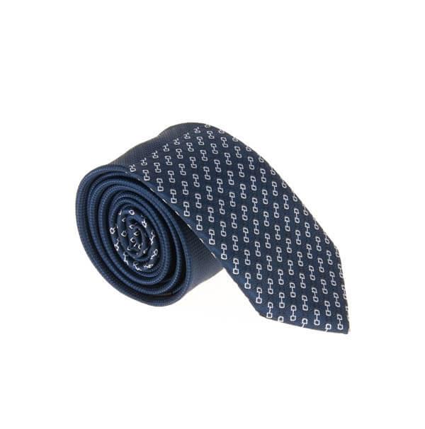 کراوات طرح دار مردانه سورمه ای کد T1063