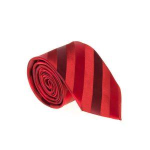 کراوات طرح دار مردانه قرمز کد T1065