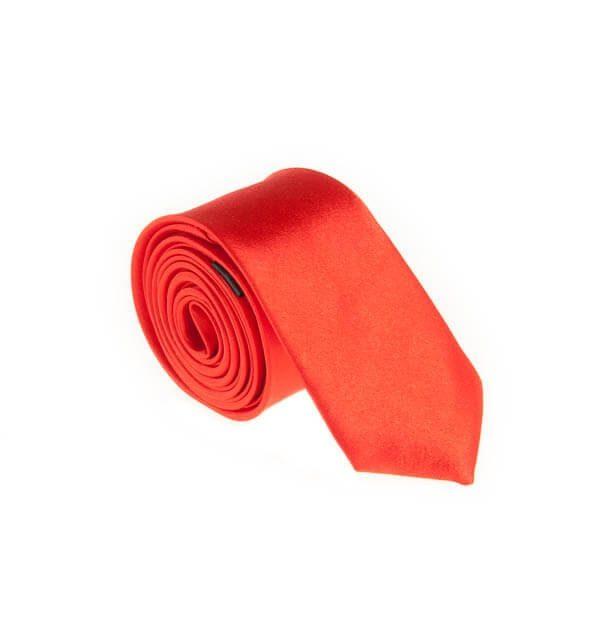 کراوات ساده مردانه قرمز کد T1075