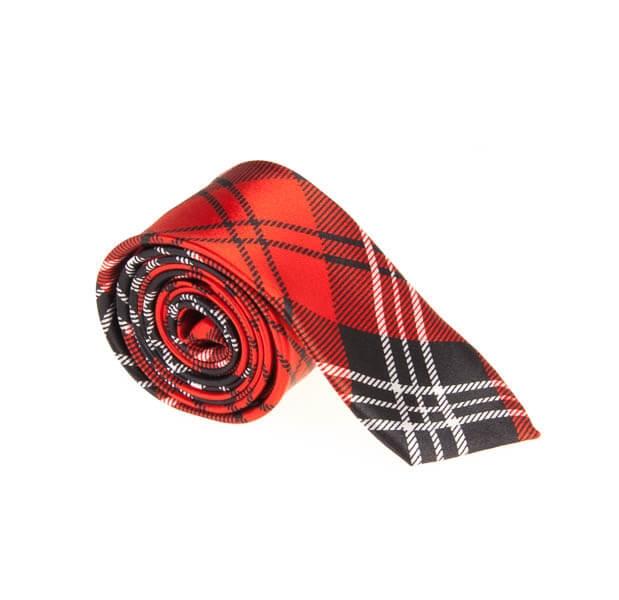 کراوات طرح دار مردانه چهارخانه کد T1072