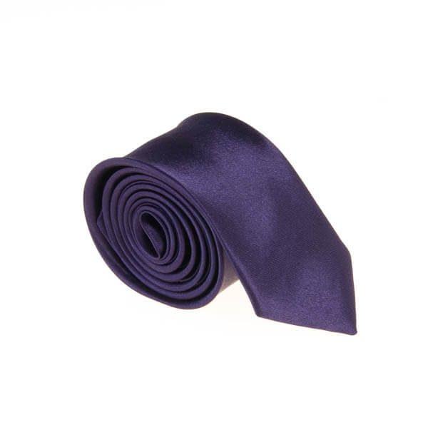 کراوات ساده مردانه سورمه ای کد T1073