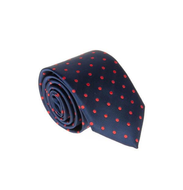 کراوات ابریشمی طرح دار مردانه خال دار rossi کد T1078