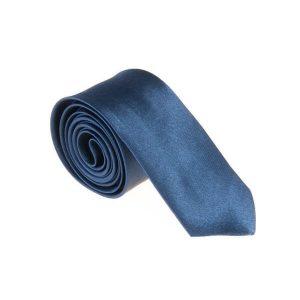 کراوات ساده مردانه سورمه ای کد T1079