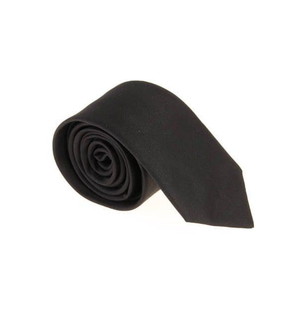 کراوات باریک ساده مردانه-مشکی T1001