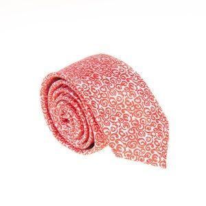 کراوات طرح دار مردانه سفید قرمز کد T1081