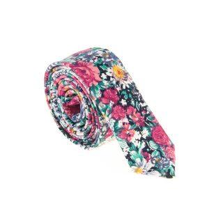 ست کراوات و دستمال جیب طرح دار کد T1082